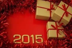 Konzept-Zahl von Jahr 2015 Lizenzfreie Stockbilder