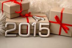 Konzept-Zahl von Jahr 2015 Lizenzfreie Stockfotos