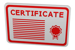 Konzept: Zertifikat Stockfoto