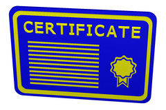 Konzept: Zertifikat Lizenzfreies Stockfoto