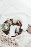 Konzept zu Hause sich entspannen oder bearbeitend Lizenzfreie Stockbilder