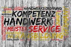 Konzept zur Kunstfertigkeit in Deutschland lizenzfreie abbildung