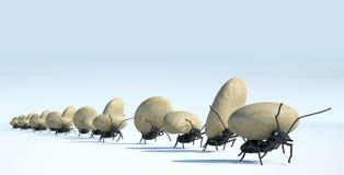 Konzeptarbeit, Team von Ameisen stockbilder