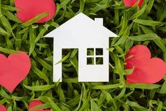 Konzeptbild von machen Ihr ein Haus Stockfotos