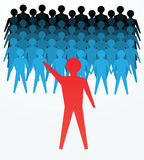 Konzepte der Führung Stockfoto