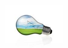 Konzepte in der Glühlampe stockbilder