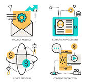 Konzepte der Projekt-Mitteilung, Angestellt-Management vektor abbildung