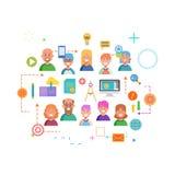 Konzepte des Wortteams Flache Designfahne für Website und bewegliche Website, bedienungsfreundlich und in hohem Grade kundengerec Stockbilder