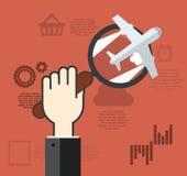 Konzepte für das Finden der rechten Strategie für Ideen im Geschäft lizenzfreie abbildung