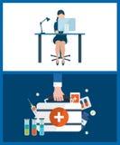 Konzepte für die Beratung, planend, Teamwork, Projektleiter, Gesundheitswesen, medizinische Hilfe vektor abbildung