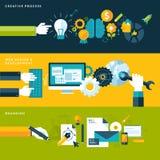 Konzepte für Netzfahnen und -Druckerzeugnisse Lizenzfreie Stockfotos