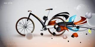 Konzeptfahrrad für städtischen Transport. Produkt Stockbilder