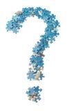 Konzeptfoto eines Fragezeichenpuzzlespiels. Stockbild