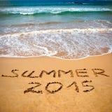 Konzeptfoto von Sommerreise und von Ferien 2015 Lizenzfreie Stockbilder