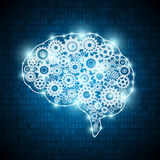 Konzeptgehirn der künstlichen Intelligenz lizenzfreie abbildung