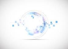 Konzeptgeschäftshintergrund der neuen Technologie des Unendlichkeitscomputers Stockbild