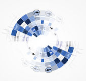 Konzeptgeschäftshintergrund der neuen Technologie des Unendlichkeitscomputers stock abbildung