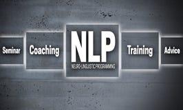 Konzepthintergrund NLP-Bildschirm- Lizenzfreies Stockbild