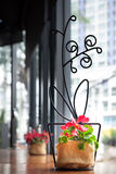 Konzeptideenblumen-Glasdekor Lizenzfreie Stockbilder