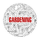 Konzeptillustration der Gartenarbeit Lizenzfreie Stockbilder