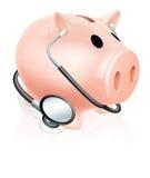 Piggy Bank des Stethoskops Lizenzfreie Stockbilder