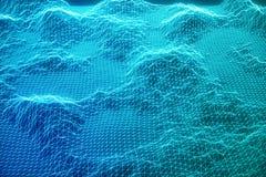 Konzeptinternetanschlüsse der Illustration 3D bei der Wolkendatenverarbeitung Cyberspacelandschaftsgitter Technologie 3d Abstrakt lizenzfreie abbildung