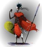 Konzeptkunst basiert auf traditionellen afrikanischen Stämmen lizenzfreie abbildung