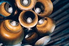 Konzeptlampen im Innenraum lizenzfreie stockfotos