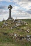 Konzeptlandschaft des keltischen Kreuzes in Insel Ynys Llanddwyn im Winkel Stockfoto