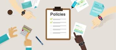 Konzeptlistendokumenten-Firmenklemmbrett der Politik vorgeschriebenes Lizenzfreies Stockfoto