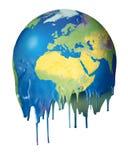 Konzeptplanetenschmelzen der globalen Erwärmung Lizenzfreie Stockfotografie