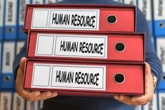 Konzeptwörter der menschlichen Ressource Dieses ist eine 3D übertragene Abbildung Ring Binders Admi Stockfotos