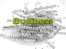 Konzeptwort-Wolkenhintergrund Bild 3d betriebswirtschaftlicher Probleme Stockbilder