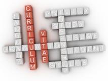 Konzeptwortwolke des curriculum vitae-3d stock abbildung