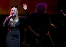 Konzert Brian May u. Kelly Wellis The Voice Stockbild