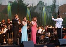 Konzert in Cesky Krumlov Stockfotos