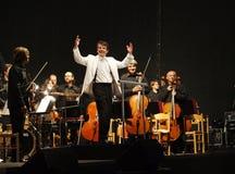 Konzert in Cesky Krumlov stockfotografie