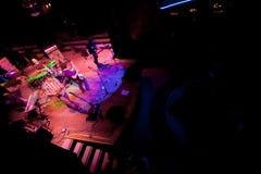 Konzert der Gruppe des Indie Pops, Champagne am 24. April 2009 lizenzfreie stockbilder