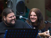 Konzert der schäbigen Blau-Band auf Keszthely-Straßenfest Stockbilder