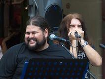 Konzert der schäbigen Blau-Band auf Keszthely-Straßenfest Stockfotos