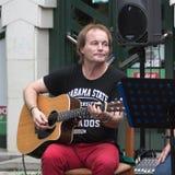 Konzert der schäbigen Blau-Band auf Keszthely-Straßenfest Lizenzfreie Stockfotografie