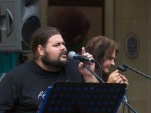 Konzert der schäbigen Blau-Band auf Keszthely-Straßenfest Lizenzfreies Stockbild