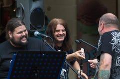 Konzert der schäbigen Blau-Band auf Keszthely-Straßenfest Lizenzfreie Stockfotos