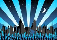 Konzert in der Stadt Stockbild