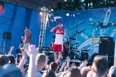 Konzert des ukrainischen Rap-Künstlers Yarmak May 27, 2018 am Festival in Cherkassy, Ukraine lizenzfreie stockfotografie