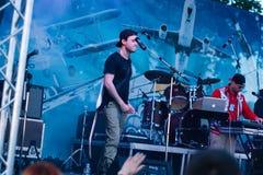 Konzert des ukrainischen Rap-Künstlers Yarmak May 27, 2018 am Festival in Cherkassy, Ukraine lizenzfreie stockfotos