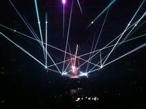Konzert, Lichtanzeige Stockbild