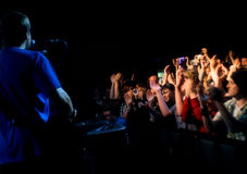 Konzert-Publikum Lizenzfreies Stockfoto
