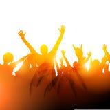 Konzert-Publikums-Vektor Lizenzfreies Stockbild