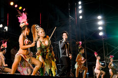 Konzert in Samut Prakan, Thailand lizenzfreies stockbild